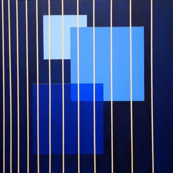Light Field #117, acrylic on wood panel, 16x16