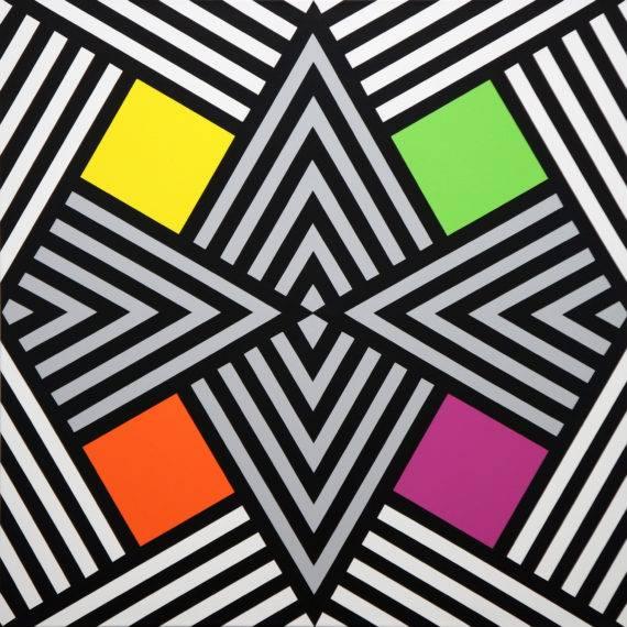 Geometry #104, acrylic on Canvas, 40x40, 5-2014