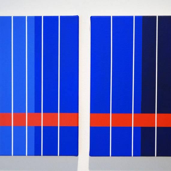 Color Study, Light Field #174-175, acrylic on canvas, 16 x 16, 2-2017