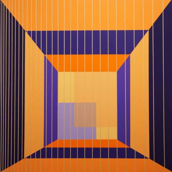 Light Field #171, acrylic on wood, 36 x 36, 1-2017