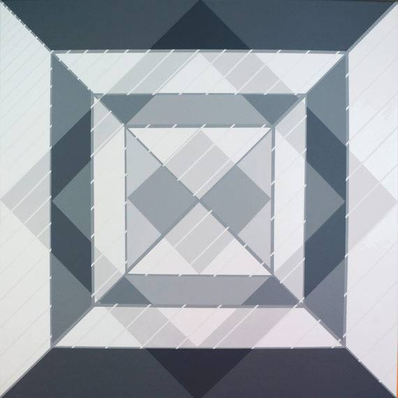 Light Field #176, acrylic on canvas, 30 x 30, 4-2017