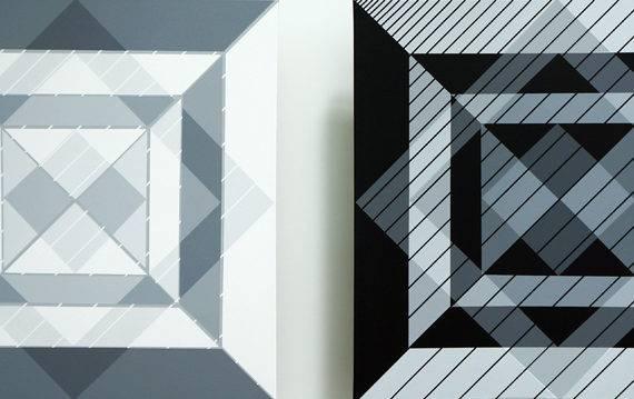 Light Fields, 176 & 177, acrylic on canvas, 30 x 30 each, 6-2017