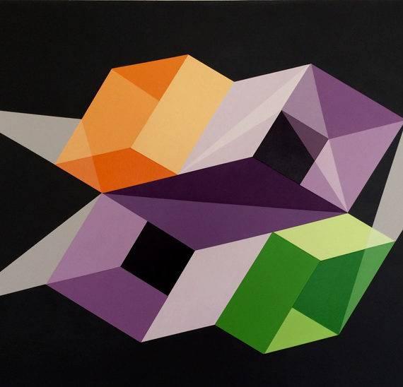Color Field # 180, acrylic on canvas, 24 x 36