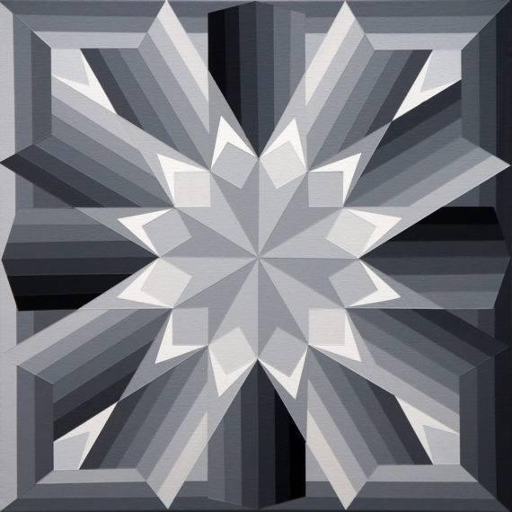 Geometry #179, acrylic on canvas, 24 x 24, 6-2017