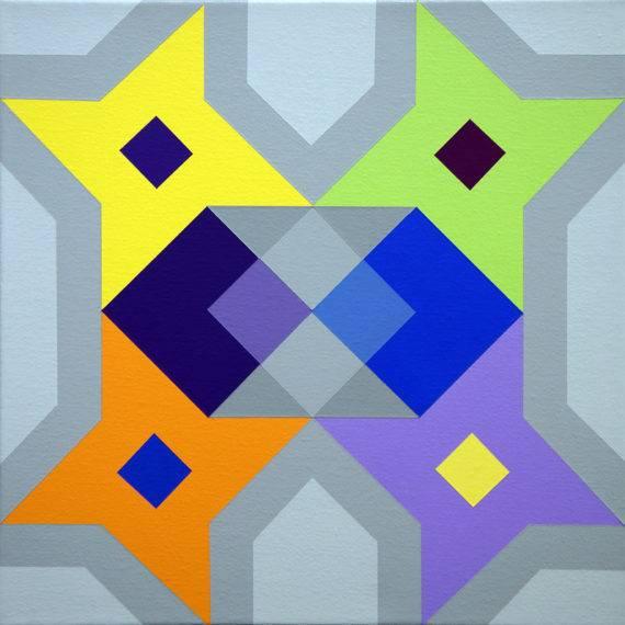 Geometry #183 acrylic on canvas 12 x 12 12-2017-1