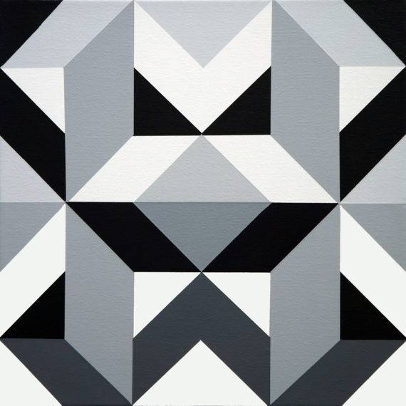 Geometry #184 acrylic on canvas 12 x 12 12-2017