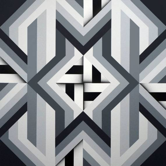 Geometry #185 acrylic on canvas 40 x 40 2018