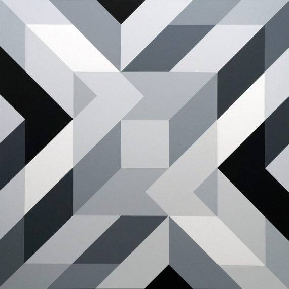Geometry #187 acrylic on canvas 36 x 36 4-2018