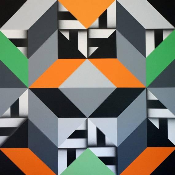 Geometry #188 acrylic on canvas 40 x 40 5-2018