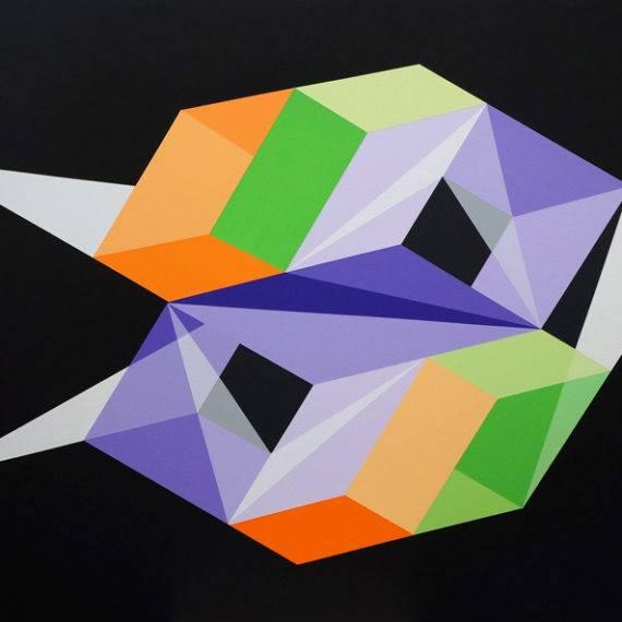 Perception #189, acrylic on canvas, 36 x 48, Oct. 2018