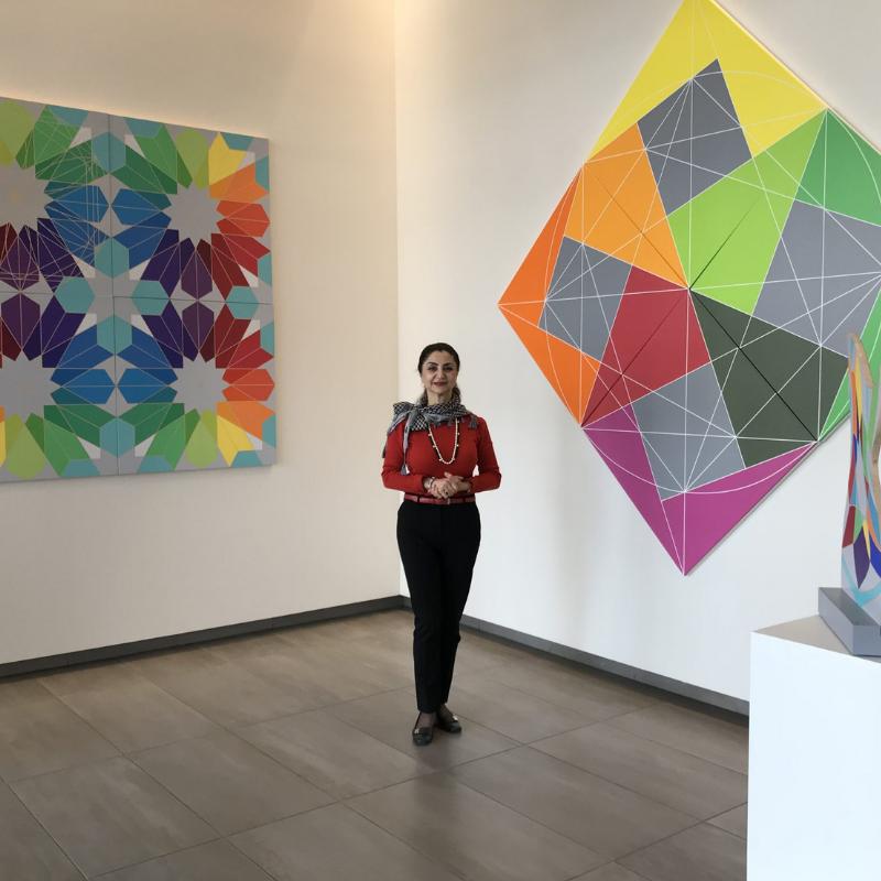 fariba abedin geometric art